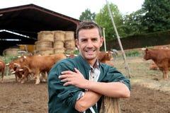 农夫的纵向 免版税库存照片