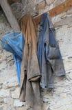 农夫的老衣裳 免版税库存照片