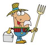农夫讲西班牙语的美国人 免版税库存照片
