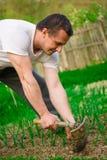 农夫运作的年轻人 免版税库存照片