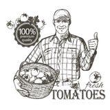 农夫运载的蔬菜 免版税库存图片