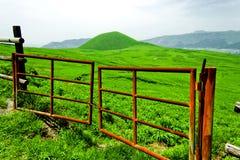 农夫门绿色横向超级火山 库存图片