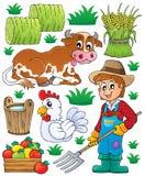 农夫题材设置了1 免版税图库摄影