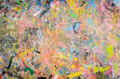 农庄颜色,混合颜色, backgrou抽象水彩调色板  免版税图库摄影