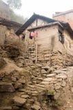 农村中国的房子 库存图片