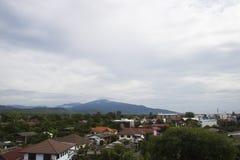 农村亚洲城市视图 免版税库存图片