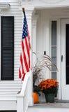 农村佛蒙特房子在秋天 免版税库存图片
