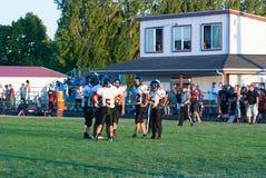 农村俄勒冈高中橄榄球队 免版税库存照片