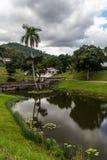 农村古巴村庄在San Juan湖旁边的Las Terrazas 免版税图库摄影