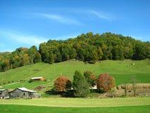 农村国家(地区)的山坡 免版税图库摄影