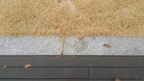 农村土地的干旱的棕色草原视图酷暑的 免版税库存照片