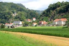 农村场面,德国 库存照片
