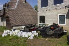 农村垃圾堆 免版税图库摄影