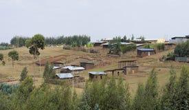 农村埃赛俄比亚的村庄 免版税库存照片