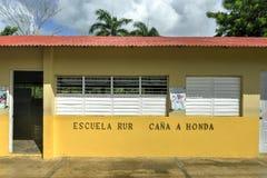 农村学校在多米尼加共和国 图库摄影