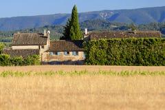 农村家在普罗旺斯,法国 免版税库存图片
