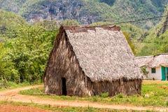 农村小屋的看法在Vinales, Pinar del里约,古巴 特写镜头 库存照片