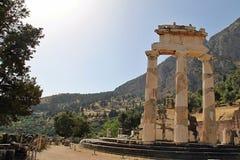 农村希腊人特尔斐寺庙 库存图片