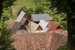 农村建筑学在乡下 库存照片