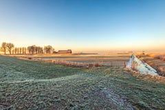 农村开拓地风景冬天 免版税库存图片