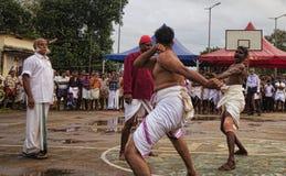 农村战斗的竞争 库存图片