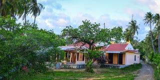农村房子在藩切,越南 库存照片