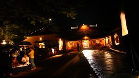 农村房子的夜作用 影视素材