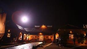 农村房子的夜作用 股票视频