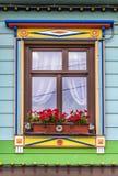 农村房子的窗口 免版税库存图片