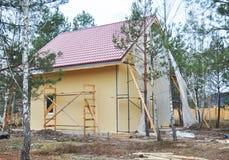 农村房子的建筑或修理 库存图片