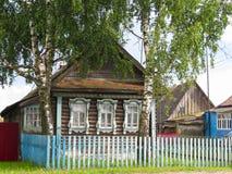 农村房子看法  库存照片