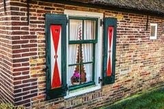 农村房子窗口  特写镜头照片 库存照片