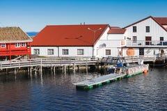 农村挪威风景, Ringholmen,挪威 免版税库存照片