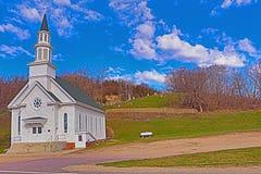 农村教会公墓 库存图片