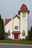 农村教会在智利湖区 库存照片