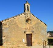 农村教会在朗格多克 免版税库存照片