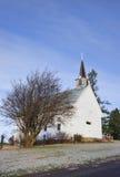 农村教会在爱达荷。 库存照片