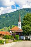 农村教会在阿尔卑斯 库存照片