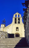 农村教会的gigondas 免版税图库摄影