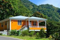 农村村庄在多米尼加,加勒比 图库摄影