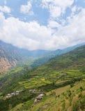 农村横向的山 免版税库存照片