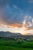农村横向的山 免版税图库摄影
