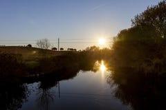 农村横向的长的风险在Castro Verde,阿连特茹, Po 库存图片