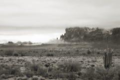 农村沙漠的住房 库存图片