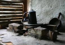 农村火炉 图库摄影