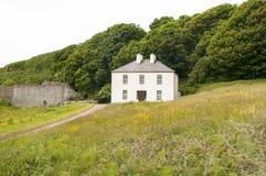 农村爱尔兰国家农舍 库存照片
