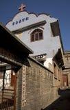 农村瓷的基督教会 库存照片
