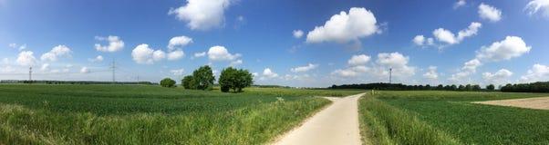 农村的全景 库存图片