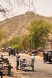 农村的印度 斋浦尔 免版税库存图片