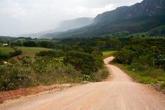 农村的土路 免版税库存图片